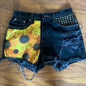 Custom Made Vintage High Waisted Shorts